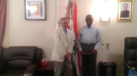 Dr Ketan Shukla, High Commissioner meeting with Mr Tiro Goaletsa G G Seeletso, CEO, Independent Elec