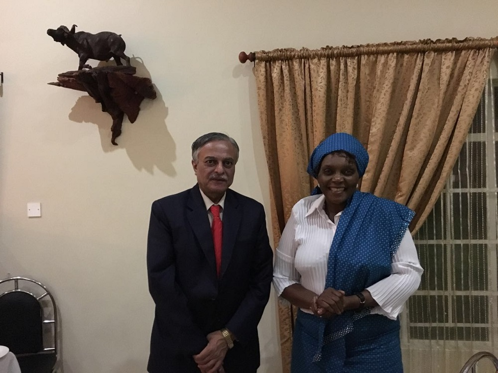 High Commissioner Dr Ketan Shukla meeting with Her Worship Sylvia Muzila, Mayor, Francistown on 29th April 2016 in Francistown