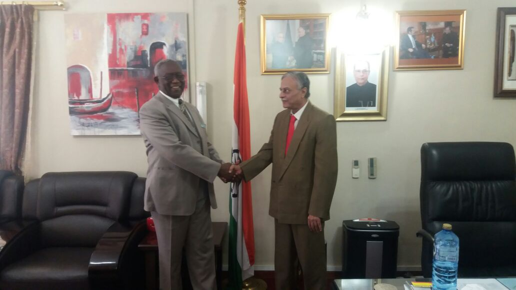 High Commissioner meeting with Mr Tiro Goaletsa G G Seeletso, CEO, Independent Electoral Commission, Botswana on 4th May 2016