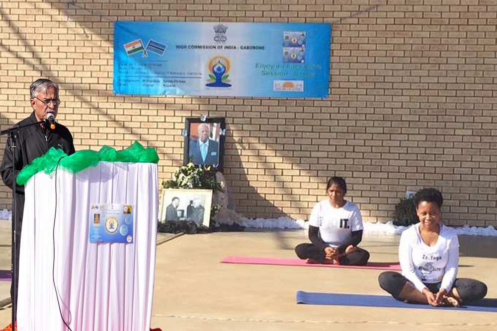 Celebration of 3rd International Day of Yoga at University of Botswana 25.6.2017
