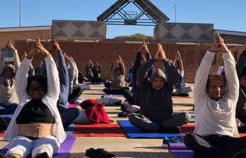 4th International Day of Yoga on 17.6.2018 at Open Arena, UB, Gaborone