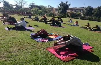 4th International Day of Yoga on 23.6.2018 Adansonia Garden, Francistown
