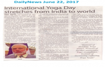 Celebration 4th International Day of Yoga in India- Coverage by DailyNews on 22.6.2018 in Gaborone