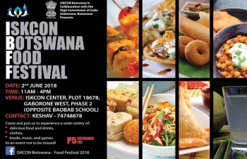 Food Festival on 2.6.2018 at ISKCON Temple, Gaborone