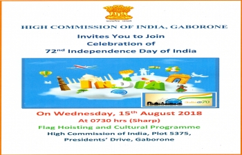 celebration of 72nd Independence Day of India