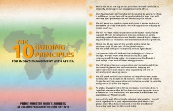 THE 10 GUIDING PRINCIPLES FOR INDIAS ENGAGEMENT WITH AFRICA