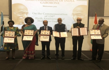 Commemoration of the 150th Birth Anniversary of Mahatma Gandhi on 2nd October 2018