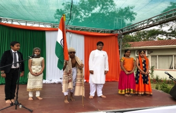 Skit performance on 70th Republic Day of India at High Commission of India