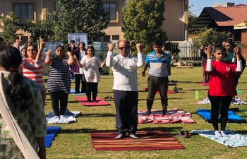 Celebration of 5th International Day of Yoga in Francistown on 16.6.2019