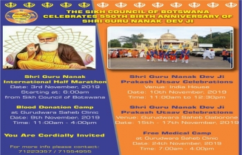 Prakash Utsav Celebrations during 550th Birth Anniversary of Guru Nanak Dev ji