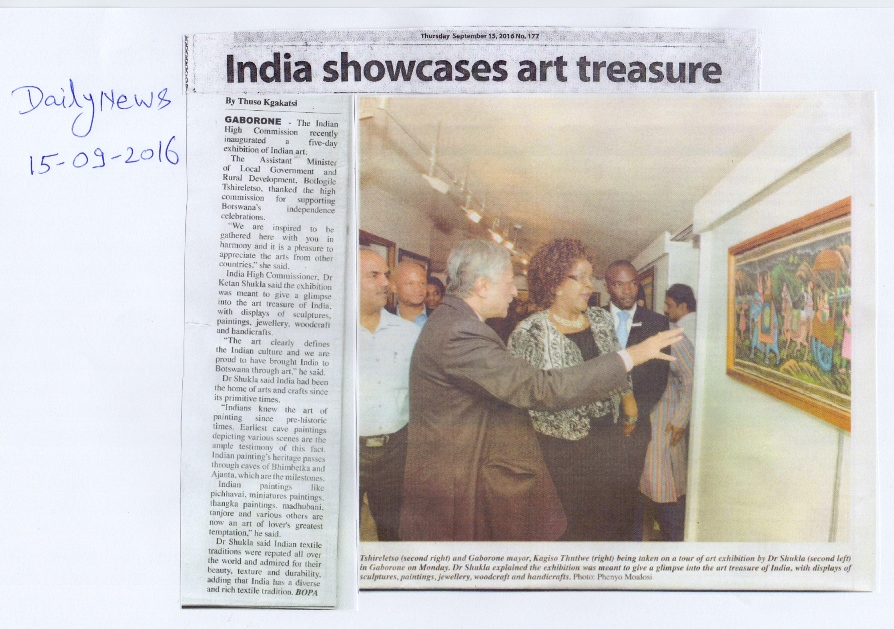 DailyNews 15.9.2016 Indian Art Exhibition